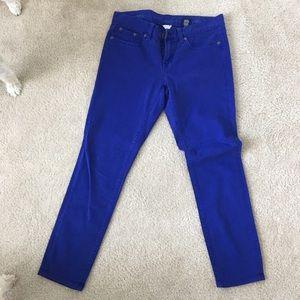 Jcrew skinny ankle jeans, size 28, blue